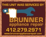 Brunner Appliance Repair Stickers
